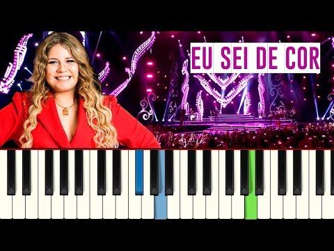 💎Marília Mendonça - Eu Sei De Cor - Piano tutorial - Master Teclas💎