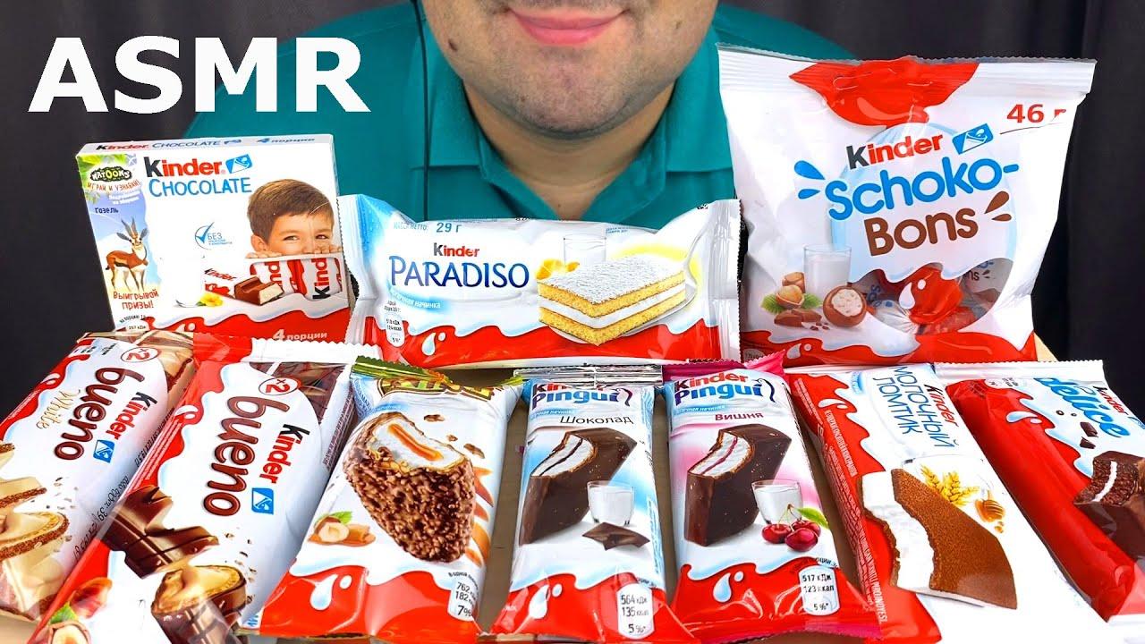 ASMR Kinder Chocolate Party Mukbang (Eating Chocolate, Pingui, Bueno, Maxi King, Candy Choco Bons)