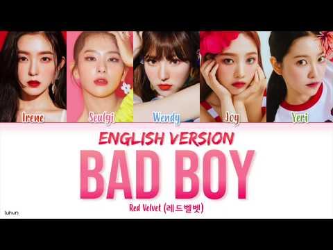 Red Velvet (레드 벨벳) - 'Bad Boy (Versi Bahasa Inggris)' LYRICS [ENG COLOR CODED] 가사
