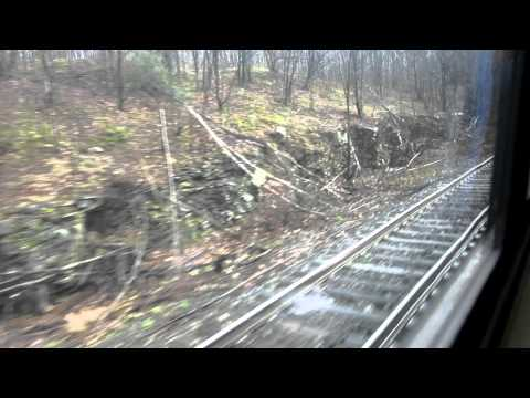 Amtrak Pennsylvanian train ride from Tyrone to Johnstown via Altoona