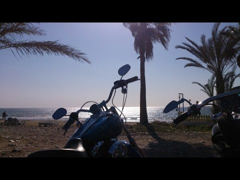 Motorcycle ride Cyprus, ride to Kourion beach, Paramali, part one