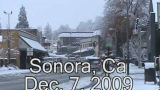 Record Snow Sonora, Ca Dec 7th 2009