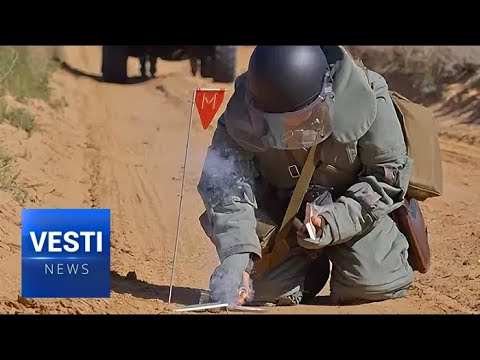 Russian War Engineers Hard at Work in Laos Clearing Left Behind American Land Mines