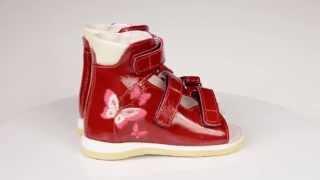 Ортопедическая детская обувь Ortofoot (Ортофут)(Босоножки для детей Ortofoot Ортофут красные с вышивкой. Выбрать и купить ортопедическую обувь вы можете у..., 2015-02-09T19:45:03.000Z)