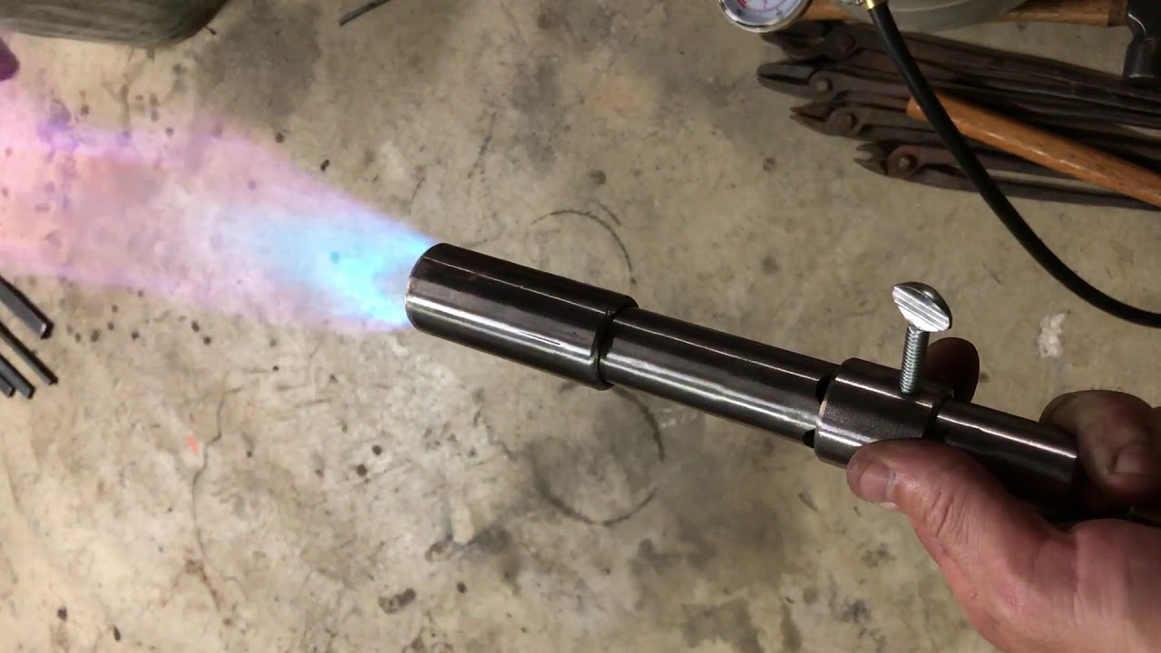 Demo Of Air Amp Gas Adjustment On A Forge Burner Youtube