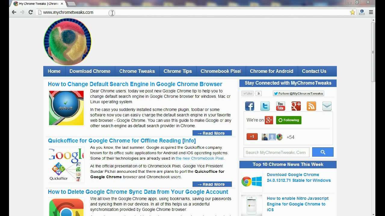 Tip: Change Default Search Engine In Google Chrome Browser
