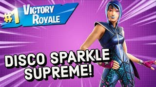 DISCO SPARKLE SUPREME Skin Gameplay In Fortnite