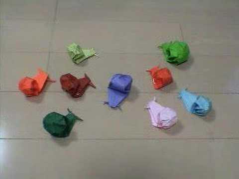 折り 折り紙:かたつむり 折り紙-youtube.com