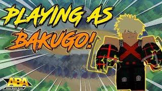 PLAYING AS BAKUGO! EXPLOSION QUIRK | Anime Battle Arena | Roblox | Bakugo Showcase