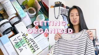 How to Get Your Life Together: Skincare & Clothing Organization For Rookies | NYC Vlog