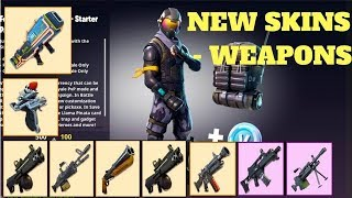 Fortnite-new weapons and skins! Air Strike, Precision Rifle