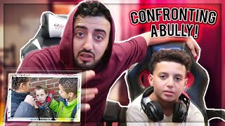 CONFRONTING MY LITTLE BROTHER'S BULLY!!! FACE TO FACE