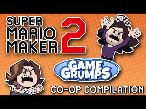 Arin And Dan Messing With Each Other in Mario Maker 2 Co-op - Game Grumps