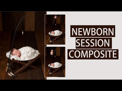 How to do a composite using Photoshop | Newborn Photography Tutorial thumbnail