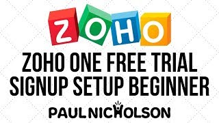 Zoho ONE Initial Free Trial Signup And Installation Beginner 2019