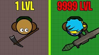 Buildroyale.io Max Evolution! New 2d Battle Royale Io Game! High Kill Victory Royales