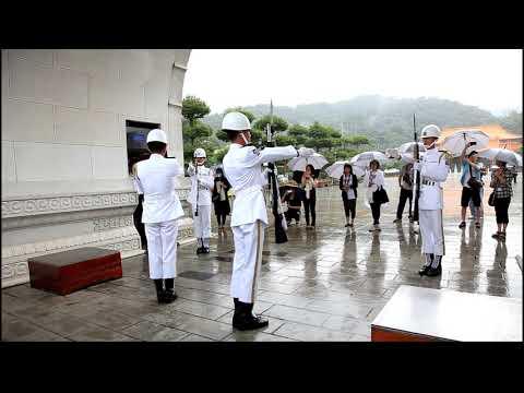 三軍儀隊-海軍儀隊-雨備-忠烈祠 Honor Guards, Navy, Taipei, Taiwan, ROC