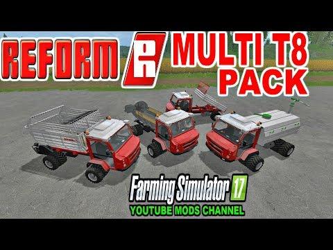 Farming Simulator 17 REFROM MULI T8 PACK Muli transport vehicle