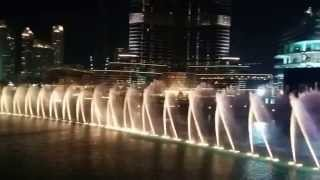 The Dubai Fountain Water show - Music by Witney Houston - 12th of May 2015
