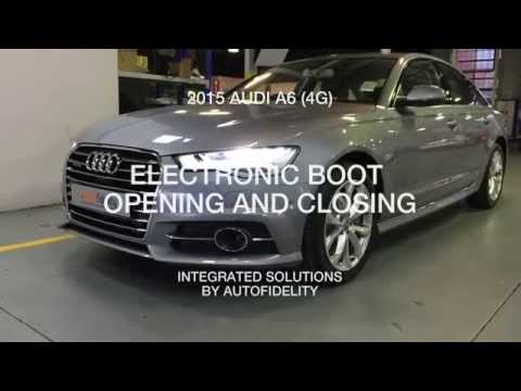 2015 audi a6 4g electronic boot opening and closing youtube. Black Bedroom Furniture Sets. Home Design Ideas