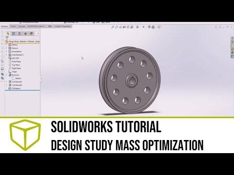 SOLIDWORKS Tutorial - Design Study Mass Optimization thumbnail