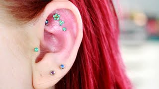 New Piercings- Triple Outer Conch (Flat) Piercing Experience