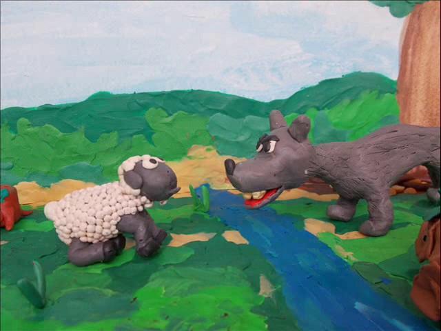 Изображение предпросмотра прочтения – «Мультстудия» читает произведение «Волк и Ягнёнок» И.А.Крылова