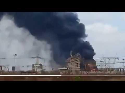 VENEZUELA: Massive Fire Strikes Transformer Plant Near Caracas