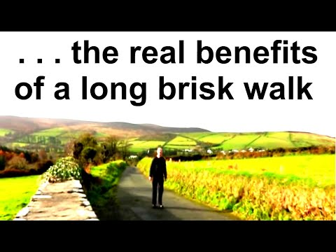 Real benefits of a long brisk walk!