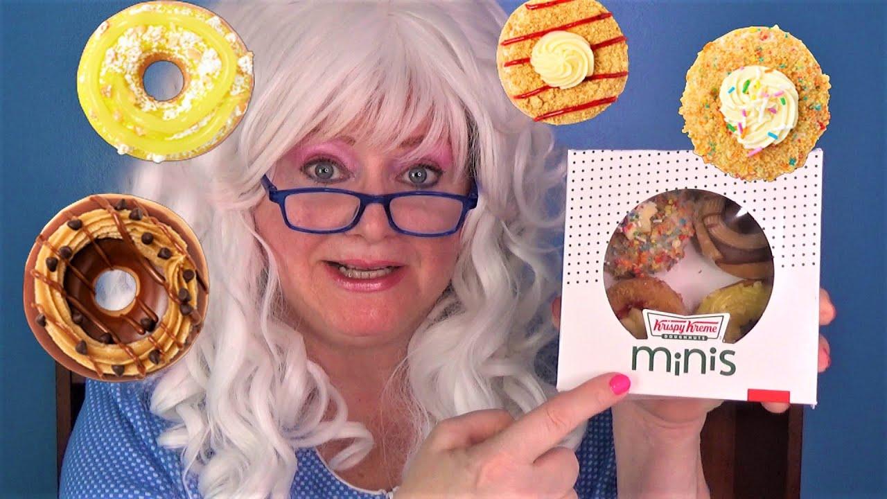 Birthday Cake Cookie Dough Cheesecake Dessert Mini Donuts Krispy Kreme Doughnuts Granny McDonald