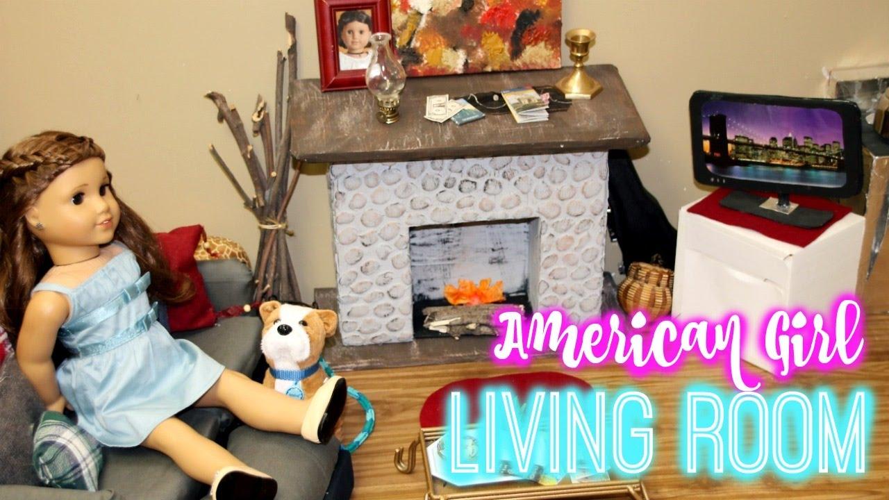 AG LIVING ROOM! | How I Made My American Girl Living Room Part 23