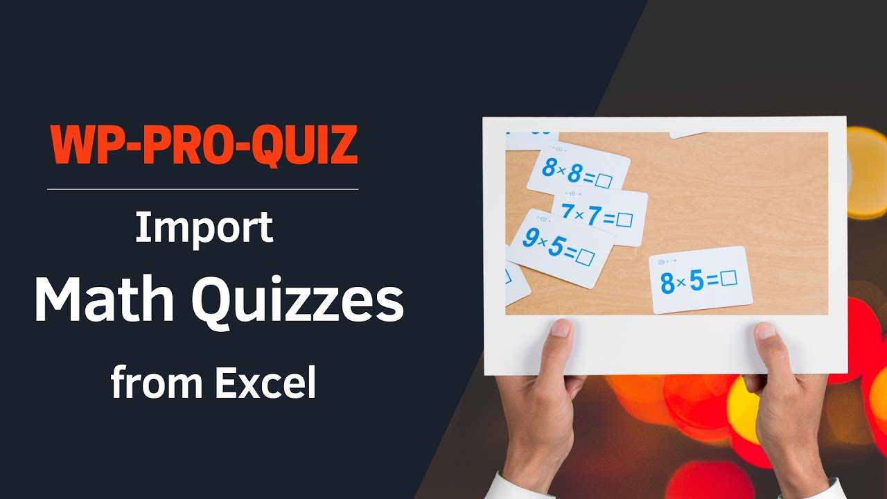 Import math quizzes from Excel to wp pro quiz - YouTube