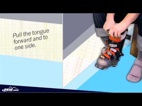 how to put on skis