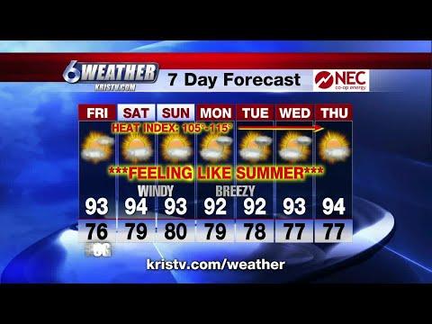 Coastal Bend weather forecast 6/21/18 6PM