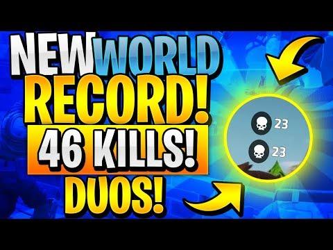 NEW DUOS WORLD RECORD 46 KILLS! (Fortnite Battle Royale)