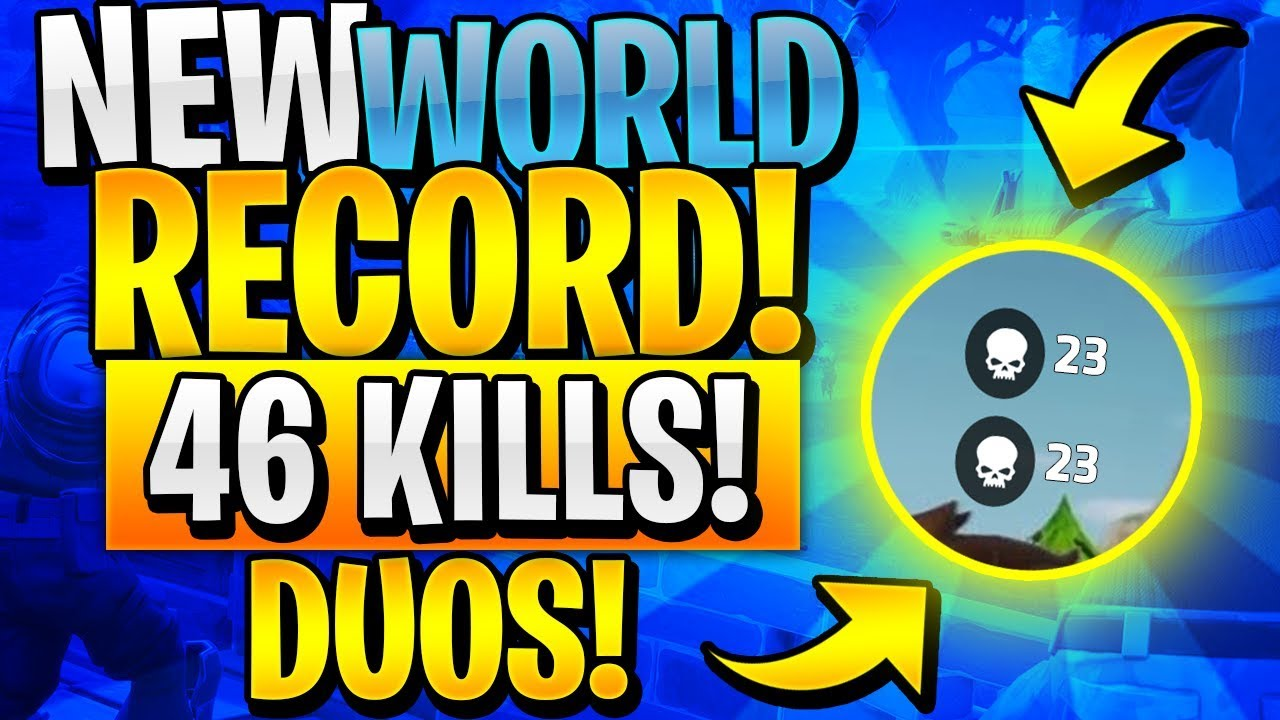 Fortnite World Record Kills