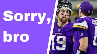 Kirk Cousins says sorry to WR Adam Thielen ... on his podcast -- WHYYYY? [Vikings Ventline]