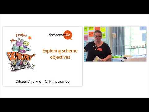 Live Stream of the ACT Government's citizens' jury on CTP insurance