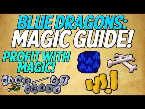 RuneScape 2007: Blue Dragons Magic Guide - Profit Training Mage! (Old School RuneScape)