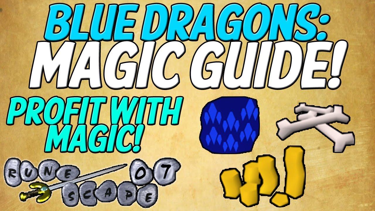 Runescape 2007: blue dragons magic guide profit training mage.