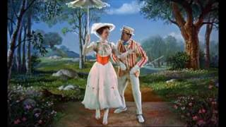 Mary Poppins Chalk Drawing Scene