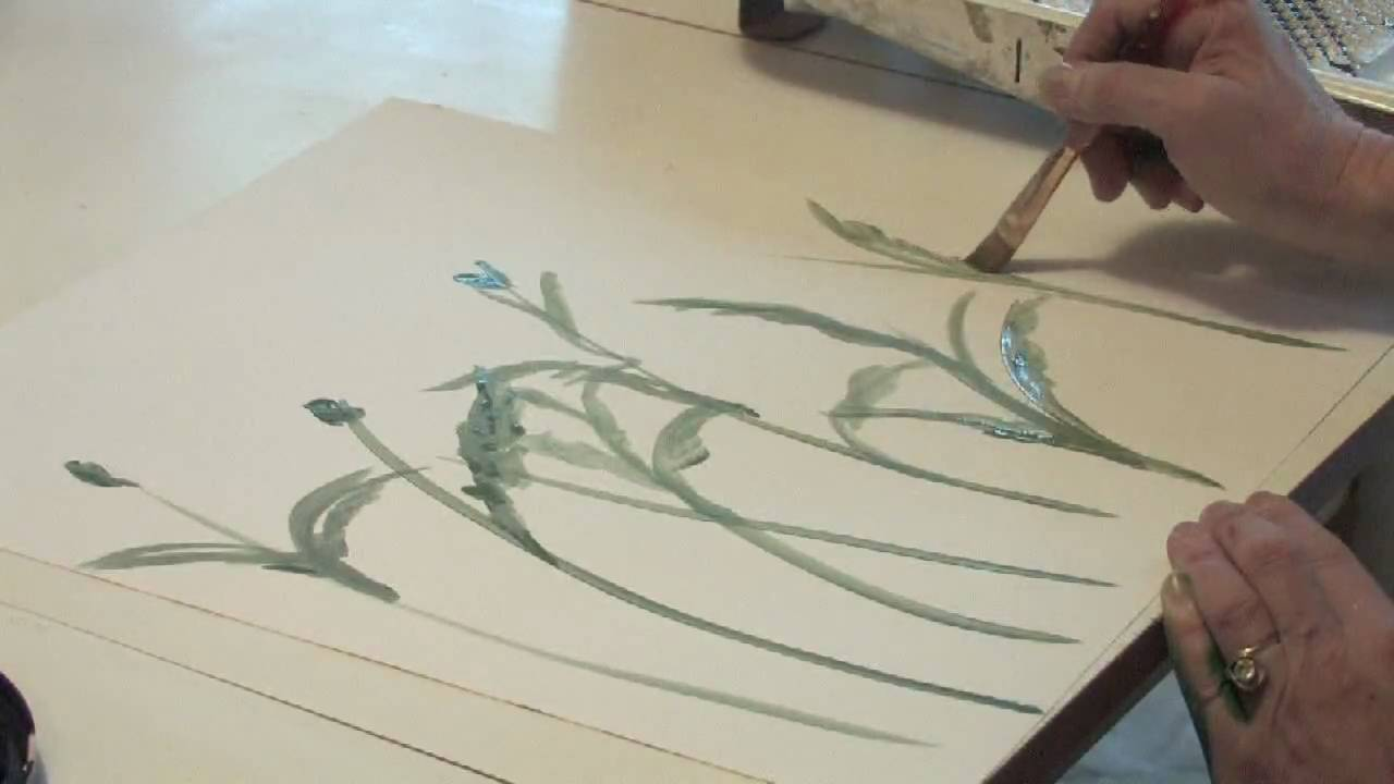 Decorative Painting Techniques How To Paint Flowers On A
