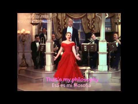 Judy Garland - I don't care (English and Spanish Lyrics)