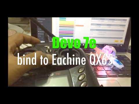 Devo 7e (modified) bind to Eachine QX65