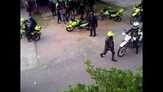 Agresión de la Policía y el SMAD contra civiles