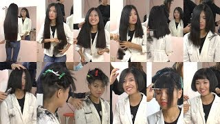 Hair2U - Miss Lu Super Long to Bob Haircut in Stages Preview