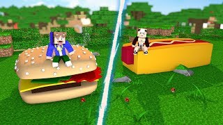 MINI HAMBURGER VS. MINI HOTDOG!