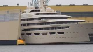 Lürssen 156m superyacht Project Omar launch