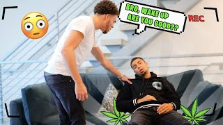 I GAVE MY BROTHER AN ED!BLE🍃 & THIS HAPPENED... *PRANK*