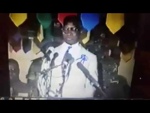 His excellence former president of the Gambia, Sir Dawda Jawara